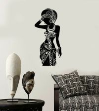 Vinyl Decal Silhouette African Woman Africa Ethnic Wall ...