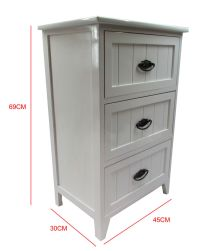 New White Gloss Wooden Small 3 Drawer Bedside Table ...