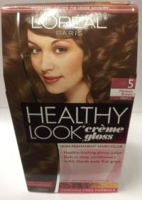 L'Oreal Healthy Look Creme Gloss Hair Color Medium Brown ...