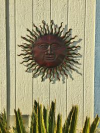 Metal Sun Wall Decor Rustic Garden Art Indoor Outdoor ...