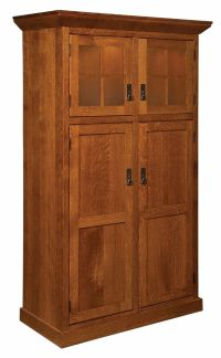 Amish Heritage Mission Craftsman Kitchen Pantry Storage ...