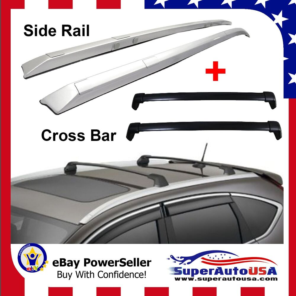 12 16 Honda Crv Roof Rack Side Rail Cross Bars Bolt On To