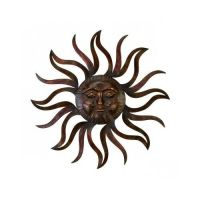 Large Metal Sun Patio Wall Decor Rustic Garden Art Indoor ...