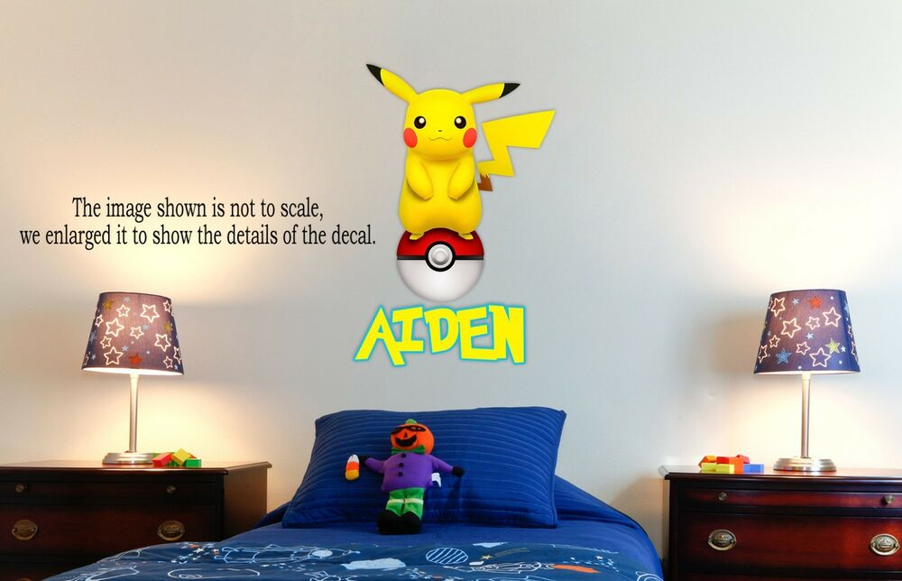 Pokemon Pikachu Personalized Wall Decal Removable And