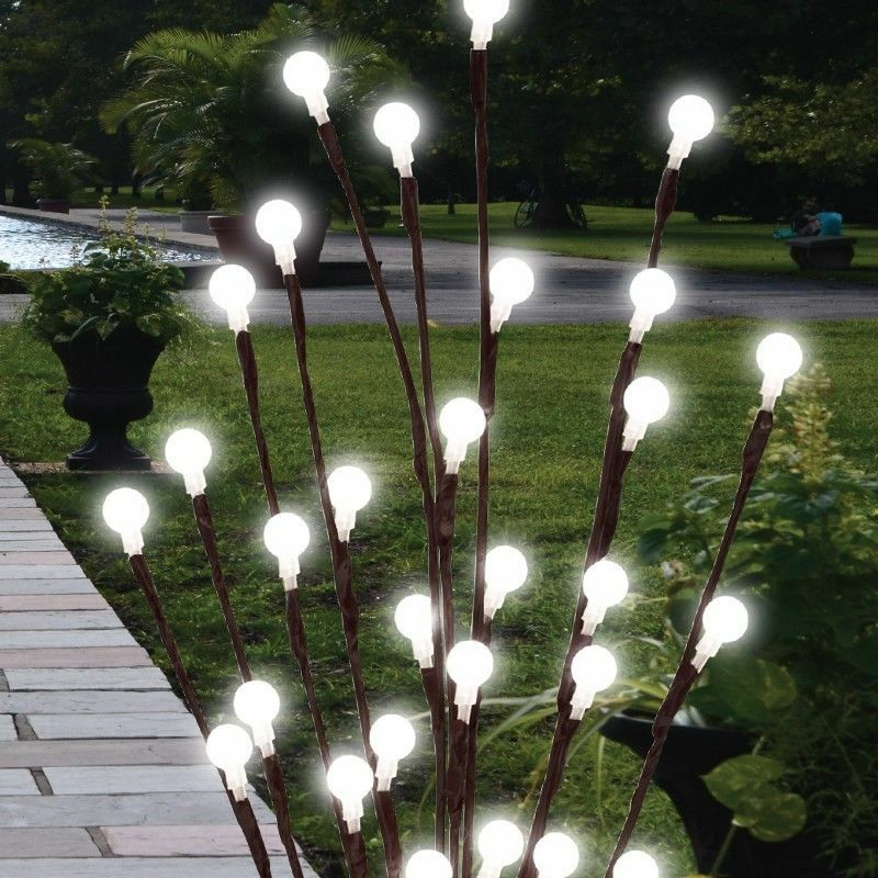 Gartenbeleuchtung Ohne Strom 2 X 60cm Garden Led Twig Lights Solar Tree Lights Decor