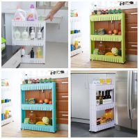 Slim Storage Cabinet Organizer Rolling Pull Out Cart Rack ...