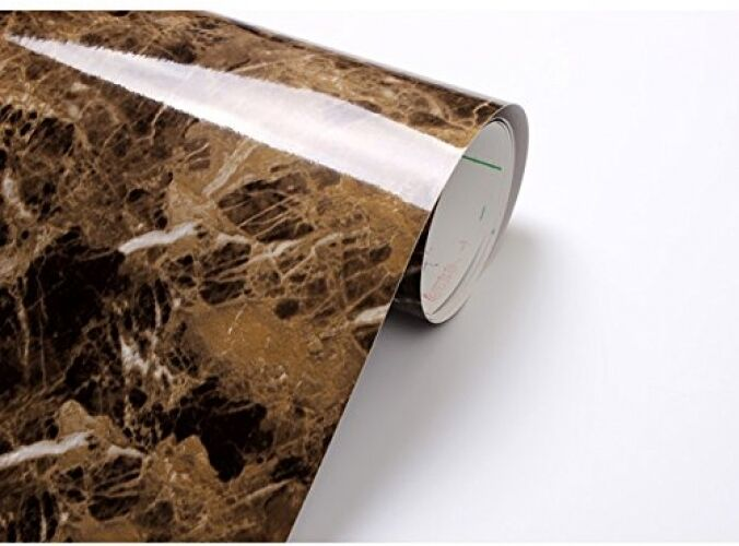 3d Effect Stone Brick Wall Textured Vinyl Wallpaper Self Adhesive Brown Granite Marble Vinyl Film Wall Papper Adhesive Roll