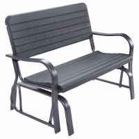 Outdoor Patio Swing Porch Rocker Glider Bench Loveseat ...