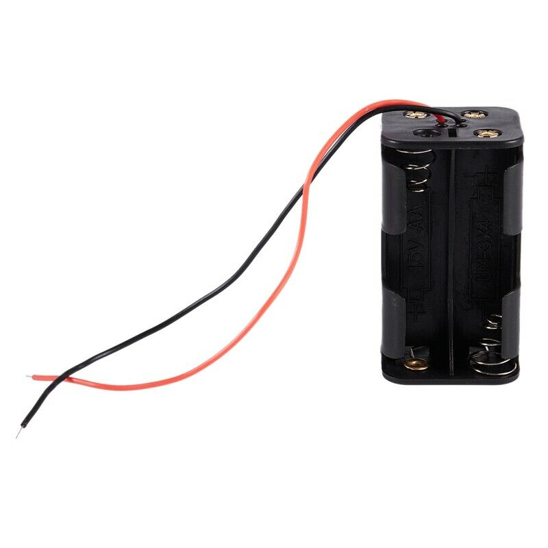 Black Tow Layers 4 x 1.5V AA Batteries Battery Holder Case