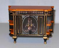 CHINOISERIE CHEST HAND PAINTED DOLL HOUSE FURNITURE ...