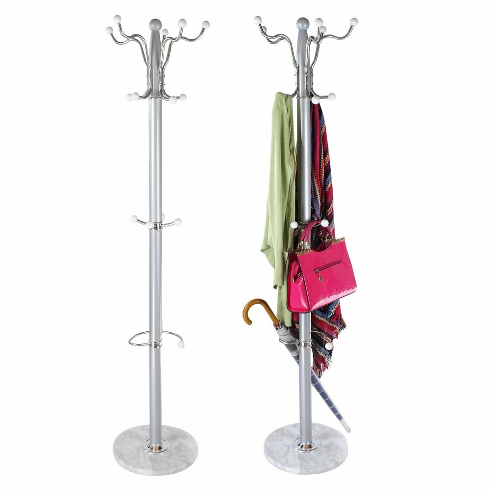 15 Hook Rotating Clothes Hat Coat Umbrella Stand Rack