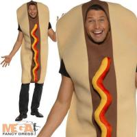 Giant Hot Dog Adults Food Fancy Dress Mens Ladies Fun Stag ...