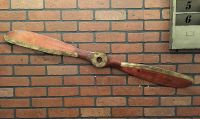 Wood Brown Airplane Propeller Aviation Collectible Wall
