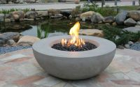 Lunar Bowl (Eco Stone) - Grey - Gas Fire Pit - Elementi UK ...