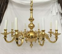 Statley Vintage Solid Cast Brass 8 Arm Colonial ...