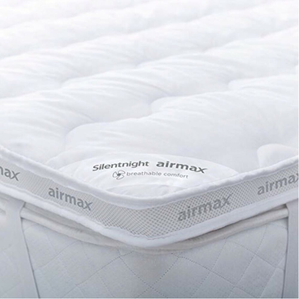 Double Bed Mattress Cover Silentnight Mattress Topper Luxury Double Bed 6 Cm Comfort Anti Allergy Air Mesh 721415960054 Ebay