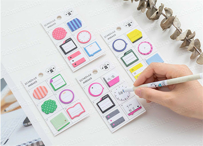 180-page Planner Schedule Marker Memo Sticky Notes Bookmark Tab