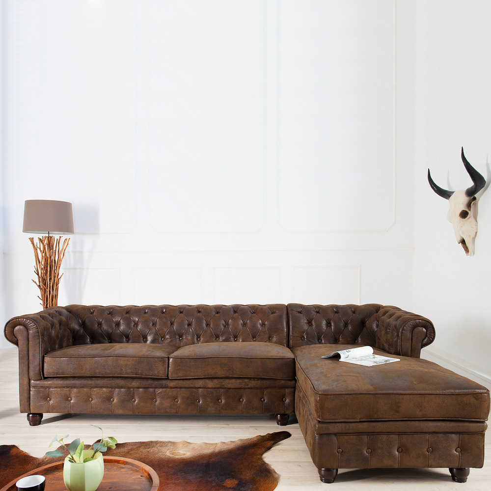 Chesterfield Recamiere Edles Chesterfield Ecksofa Im Antik Look Ot Rechts
