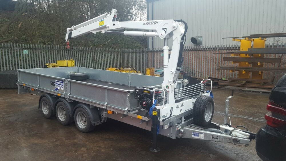 Anhänger Mit Kran New Ifor Williams Trailer Fitted With 2-3 T/m Crane / Hiab