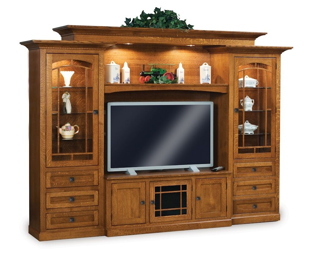 Spiegelschrank Massivholz Amish Tv Entertainment Center Solid Wood Media Wall Unit