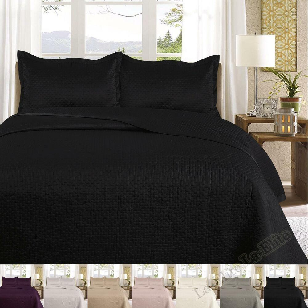 King Size Bed Throws Bed Throws Bedspread Polyester Quilted Luxury With Pillowcases Double King Size Ebay