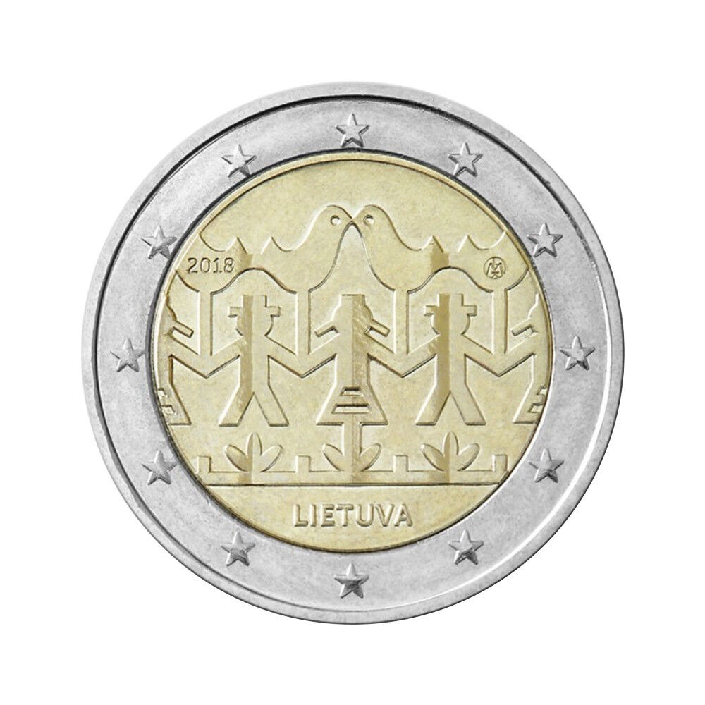 Ebay 1 Euro Lithuania 2 Euro Commemorative Coin 2018
