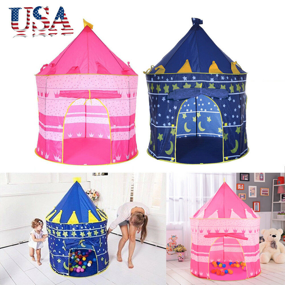 Kids Play Tent Portable Folding Kids Pop Up Play Tent Boy Girl Princess Castle Playhouse Indoor Ebay