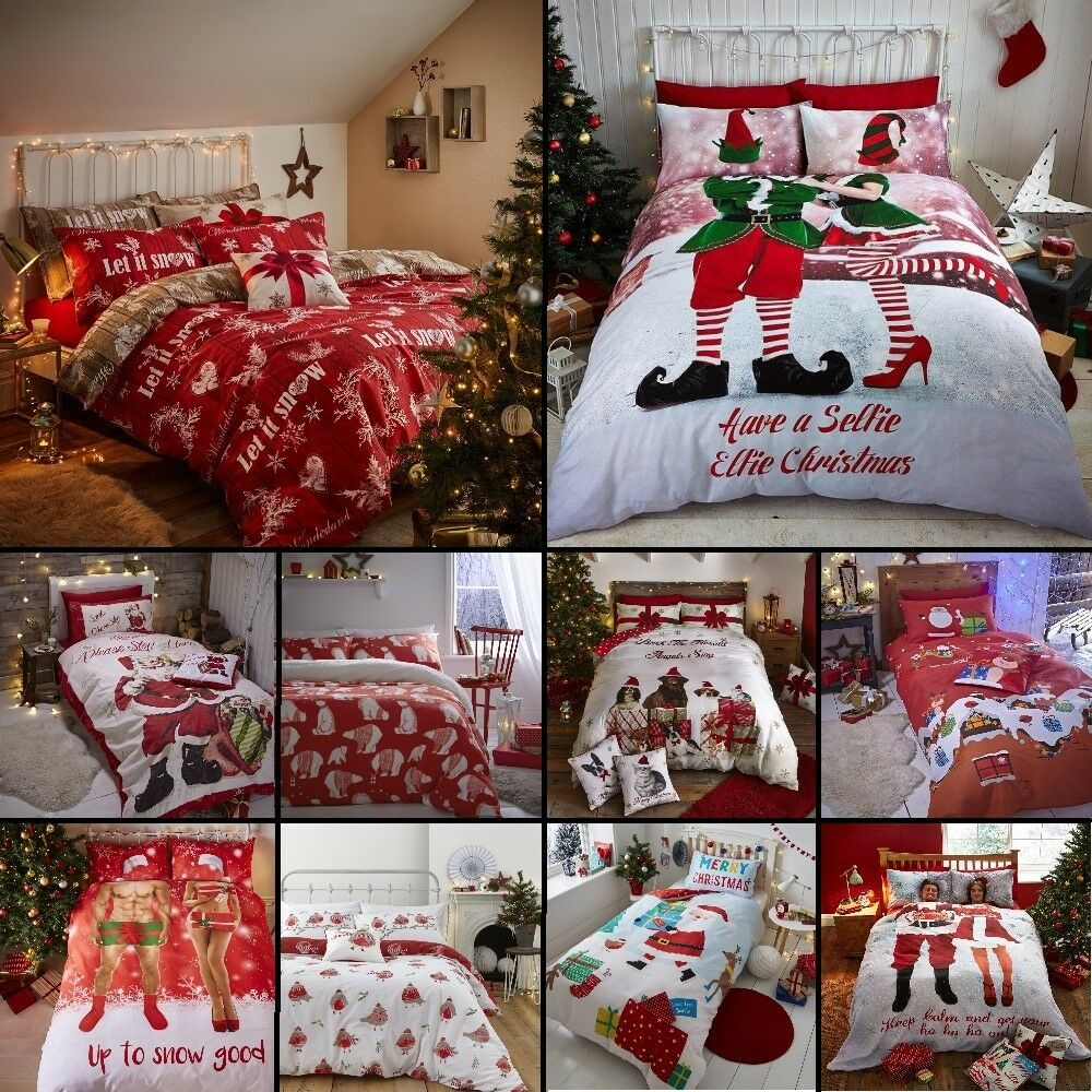 Catherine Lansfield Christmas Bedding Catherine Lansfield Christmas Santa Claus Duvet Quilt Cover Xmas Bedding Set Ebay