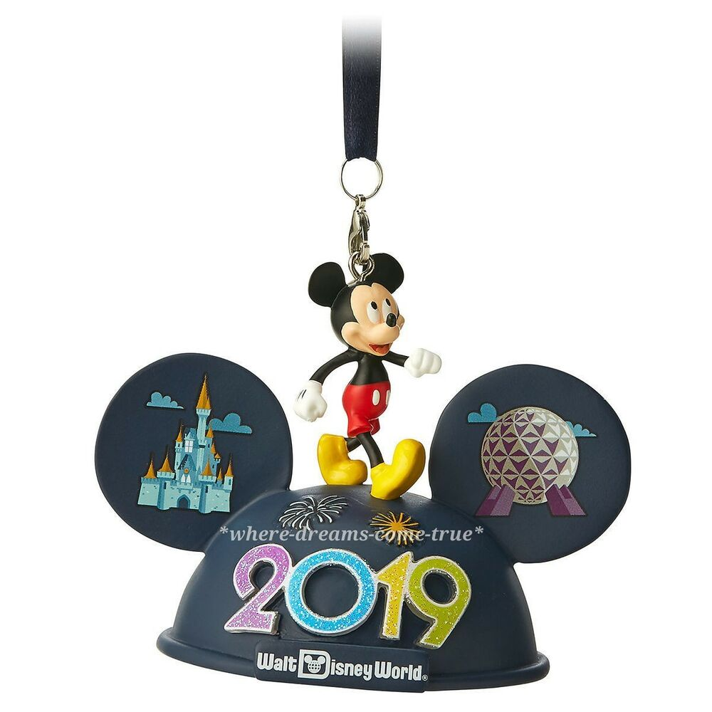 Disney Mickey Disney Mickey Mouse Light Up Ear Hat Ornament Walt Disney World 2019 New Ebay