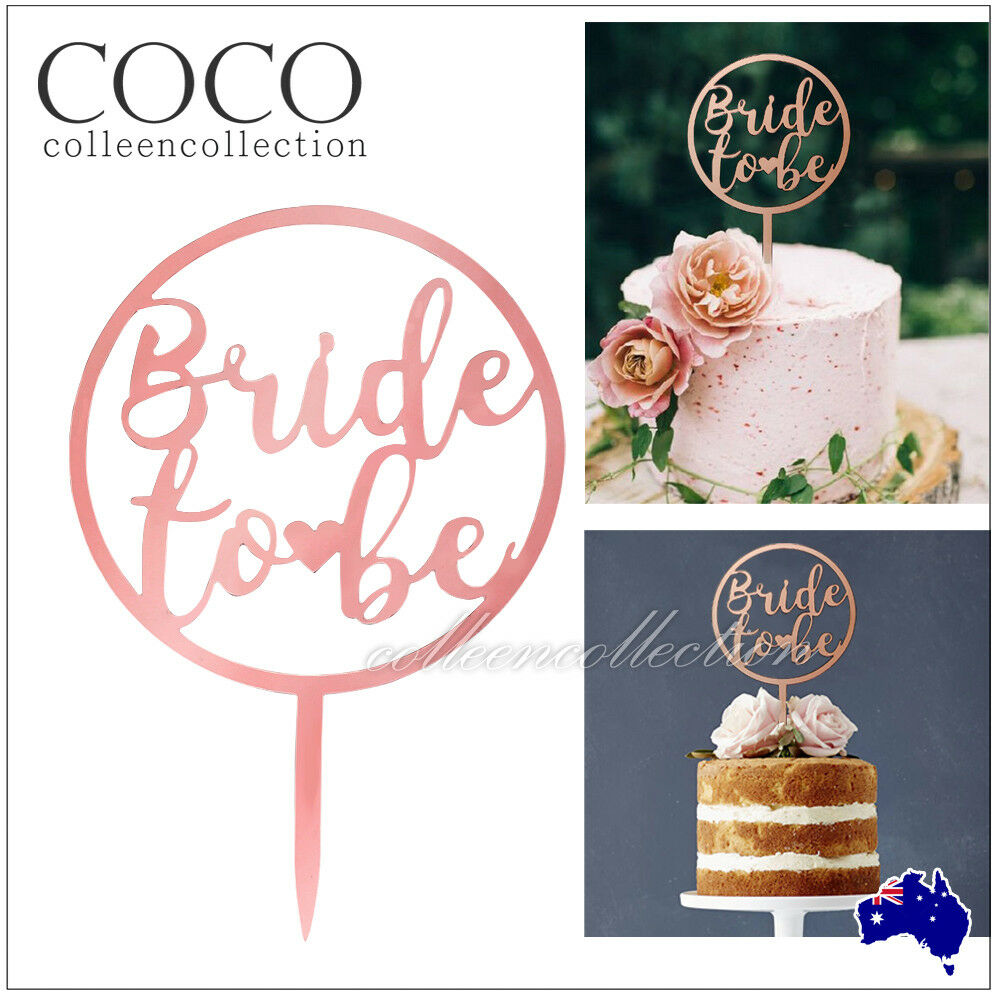 Acrylic Mirror Sydney Bride To Be Acrylic Mirror Rose Gold Cake Topper Hen Parties Event