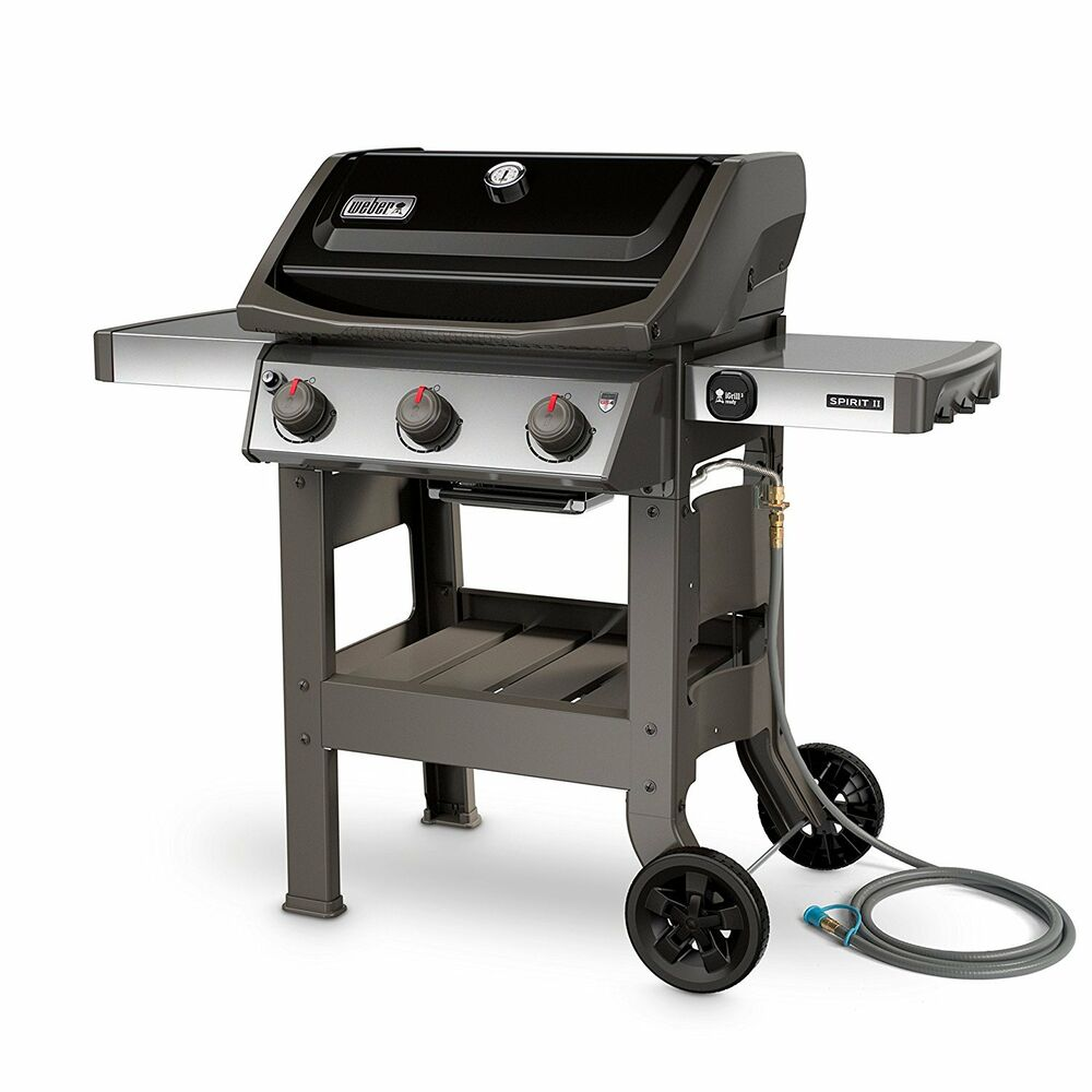 Weber Grill Spirit E 310 Weber Spirit Ii E 310 3 Burner Natural Gas Grill In Black Ebay