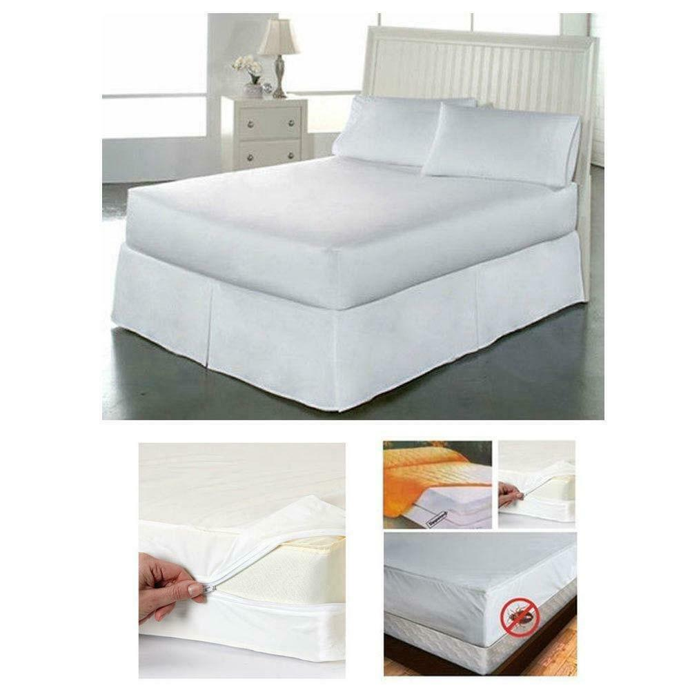 Bed Bugs Mattress Cover King Size Fabric Zippered Mattress Cover Waterproof Bed Bug Dust Mite Protector Ebay
