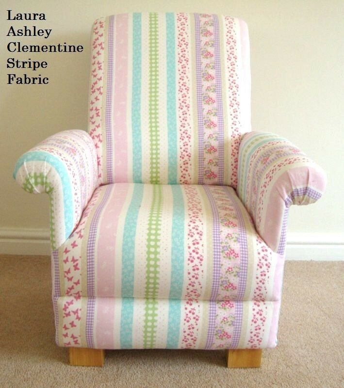 Laura Ashley Sofa Pink Laura Ashley Clementine Stripe Fabric Child's Chair
