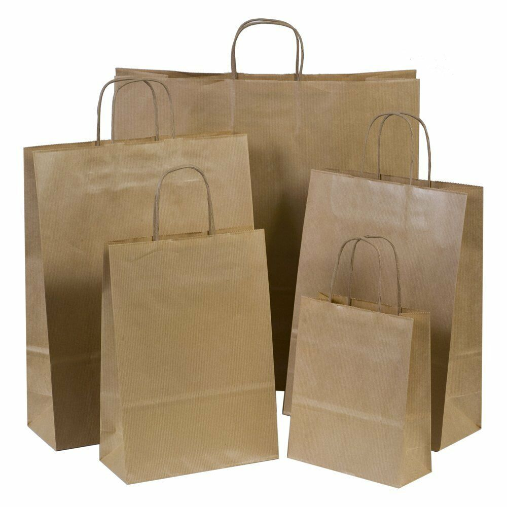 Brown Paper Gift Carrier Bags With Twisted Handles Choose