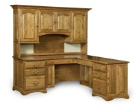 Amish Corner Computer Desk Hutch Home Office Solid Wood ...