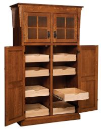 Amish Mission Rustic Kitchen Pantry Storage Cupboard Roll ...