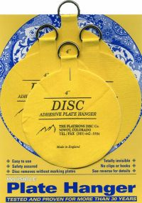The Original Disc Adhesive Plate Hangers Set of 4x4"