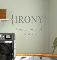 Laundry Room IRONY Vinyl Wall Decal Lettering Words Home ...