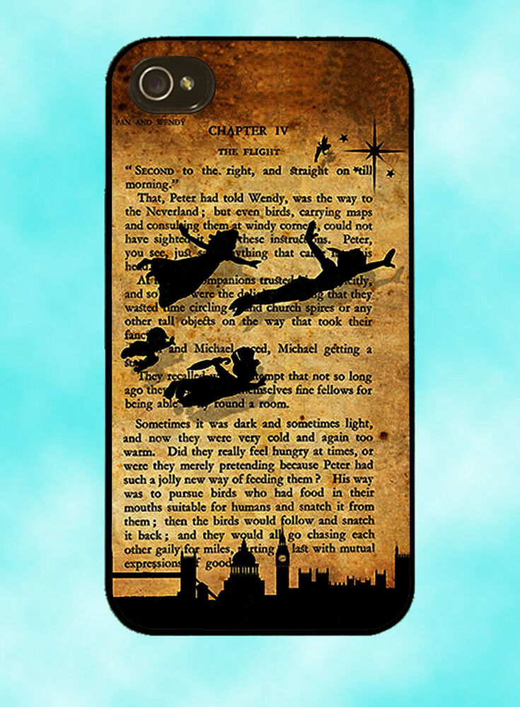 Tinkerbell Wallpaper For Iphone 6 Disney Peter Pan Tinkerbell Book Case Cover Mobile Quotes