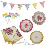 Truly Scrumptious Vintage Tea Party Set -Plates,Napkins ...