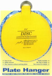 Original Invisible Disc Adhesive Plate Hangers Set of 4x5 ...
