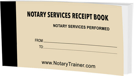 Notary Services Receipt Book By Notarytrainer eBay