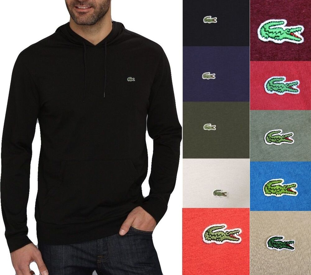 Pull Over Hoodie Lacoste Men Fashion Casual Lightweight Jersey Pullover