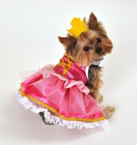 Pet Dog Cat Pink Princess Halloween Christmas Fancy Dress ...
