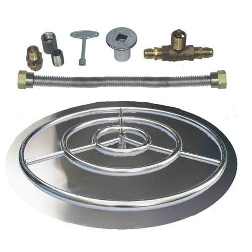 Stainless Steel Fire Pit Burner Pan with Ring Kit for LP