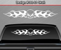 Design #100-01 Skull Rear Window Decal Sticker Vinyl ...