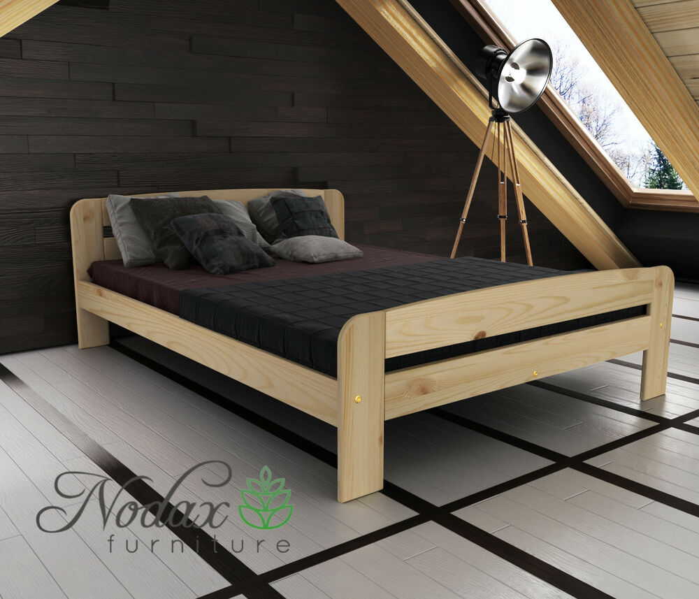 Wooden Furniture Solid Pine Small Double Bed 4ft Select