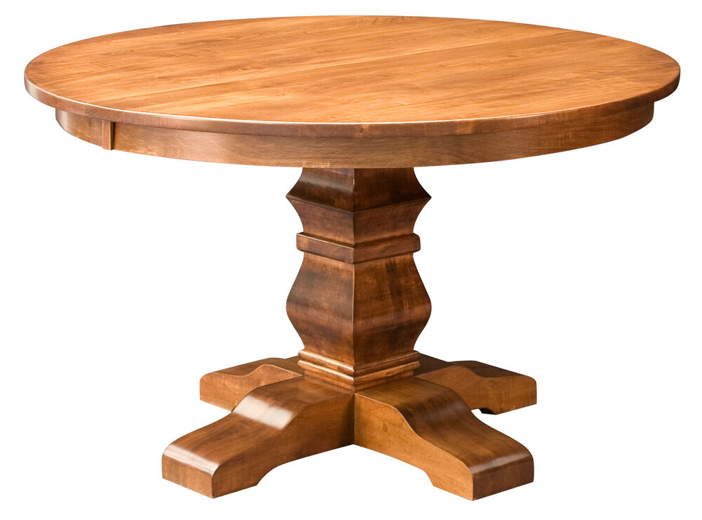 round wood pedestal table
