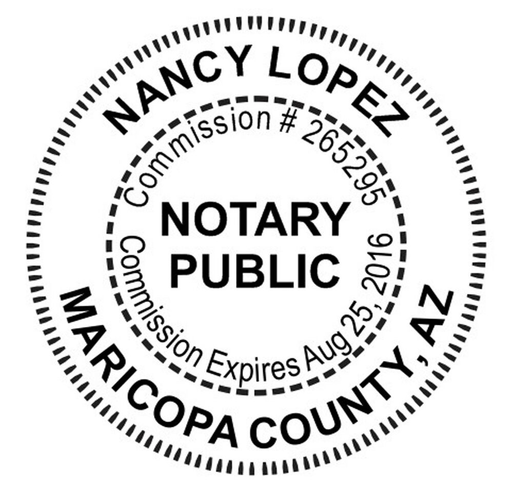 tennessee round notary public notary stamp