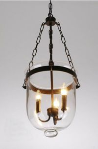 Glass Lantern Pendant Pottery Barn Style Chandelier Candle ...